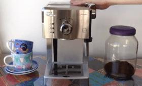 Opinião sobre Philips Saeco Poemia, máquina manual de café espresso com bico vaporizador
