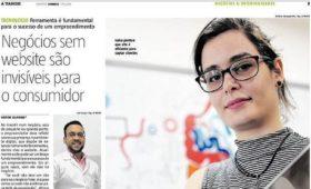 A Importância de web sites para as empresas – Jornal A Tarde, Dezembro de 2018