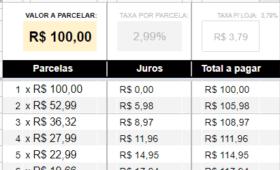 Calculadora de parcelas com juros e taxas do PagSeguro