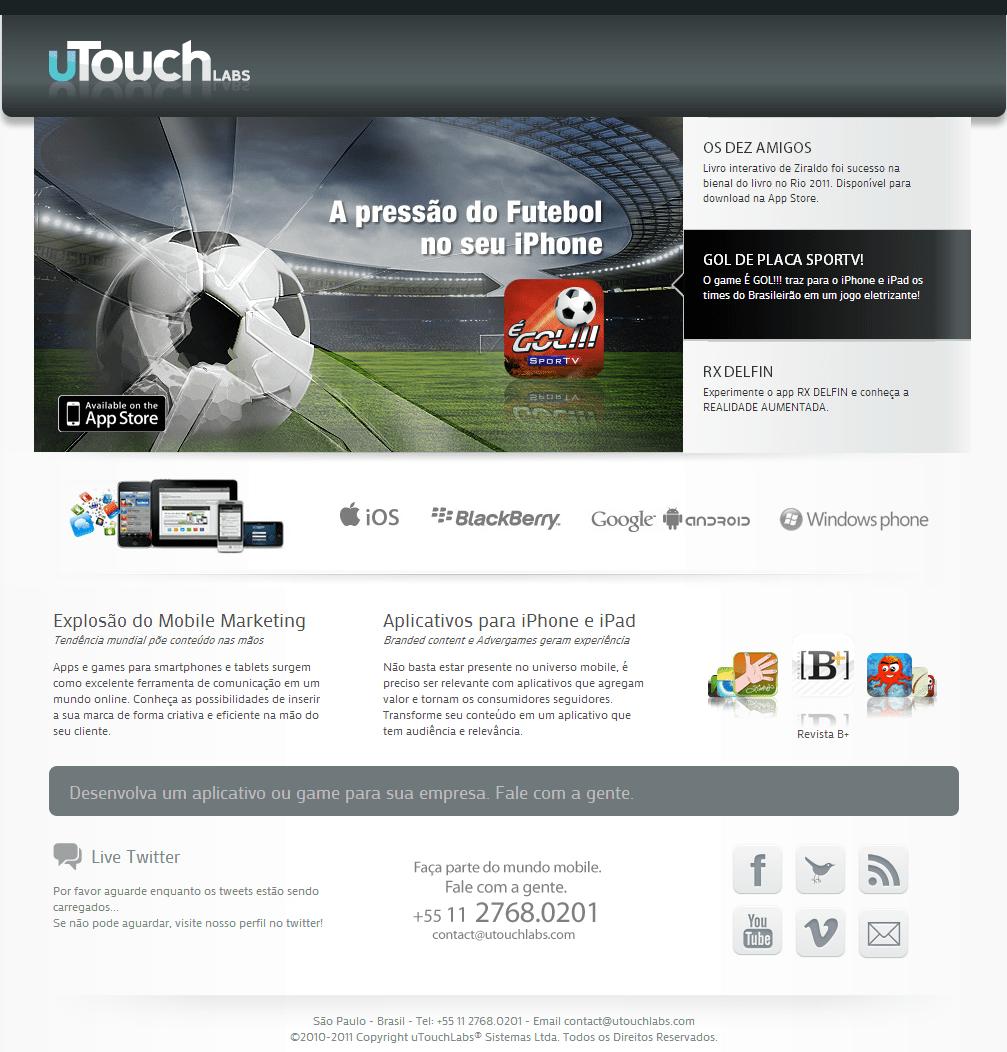 Web site da uTouchLabs