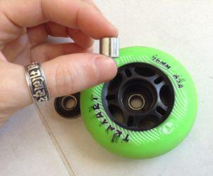 Espaçadores de rodas de patins inline comuns