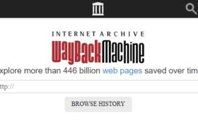 Como visualizar sites antigos e navegar em backups