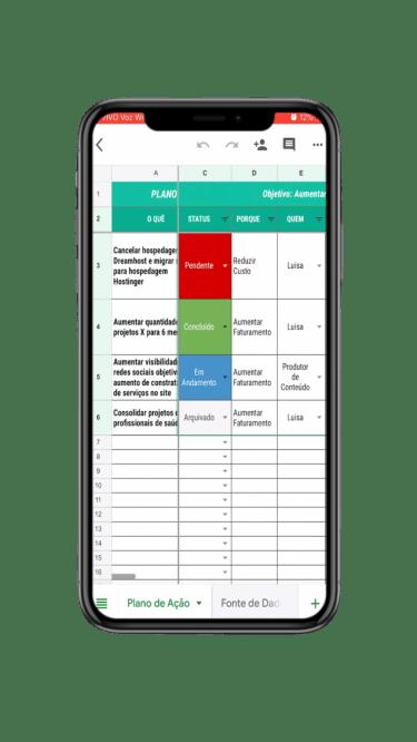 Planilha de Plano de Ação Online e Dinâmica Grátis